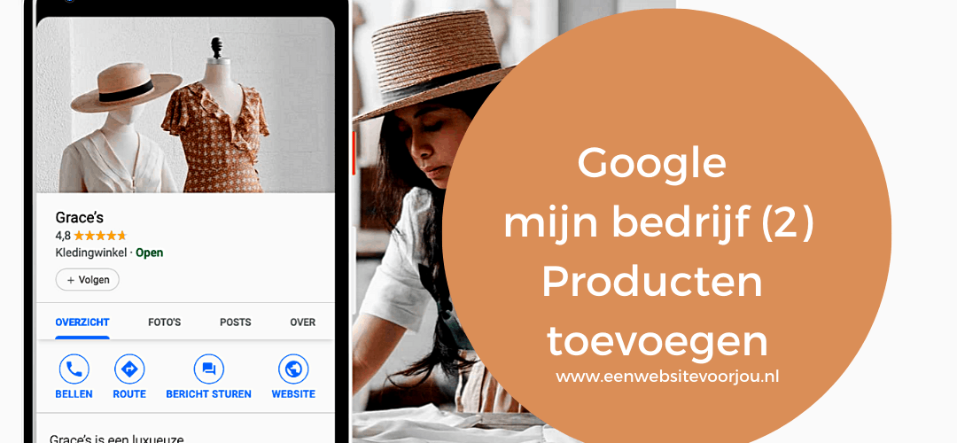 Google Mijn bedrijf – Producten & Diensten