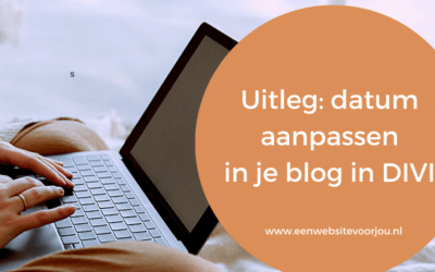 Hoe kan je de datum in je blog aanpassen in DIVI