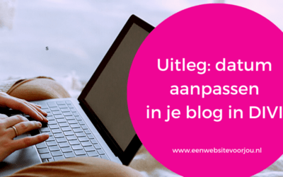 Datum in je blog aanpassen in DIVI