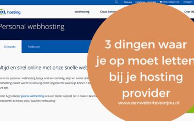 3 dingen waar je op moet letten bij je hostingprovider